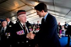 Justin Trudeau souligne les 75 ans du débarquement de Normandie, en France