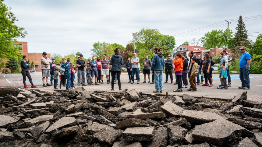 Le projet Sous les pavés s'amorce à Saint-Laurent