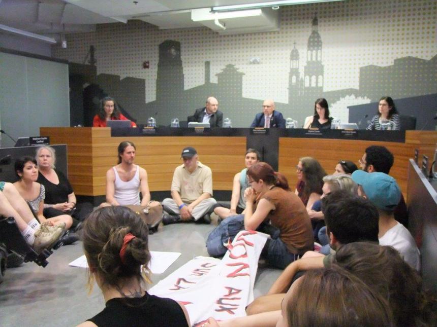 Sit-In pour des logements sociaux