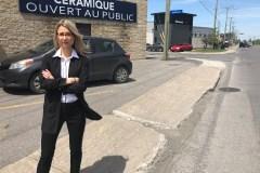 Des trottoirs dans un état lamentable sur le boulevard Industriel