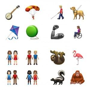 Couples mixtes, handicaps et animaux exotiques parmi les nouveaux emojis d'Apple