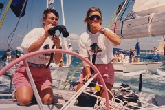 Tracy Edwards à la mer parmi les hommes