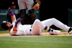 Le voltigeur David Dahl des Rockies a été laissé de côté face aux Yankees