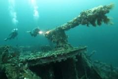 Des obus seront récupérés dans des épaves coulées près de l'île Bell