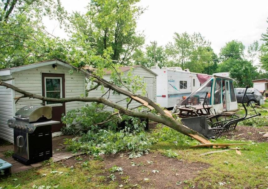 Une tornade a déferlé jeudi soir sur Saint-Roch-de-l'Achigan, dans Lanaudière