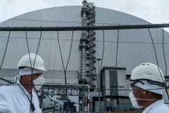 Ukraine: mise en service du sarcophage recouvrant la centrale de Tchernobyl
