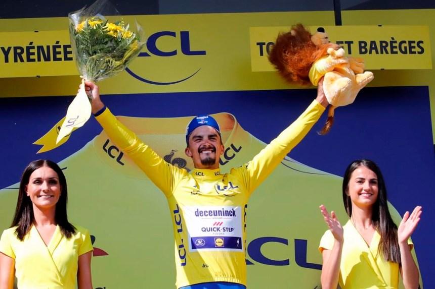 Julian Alaphilippe conserve le maillot jaune du meneur