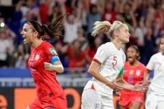 Les États-Unis battent l'Angleterre 2-1 et accèdent à la finale au Mondial