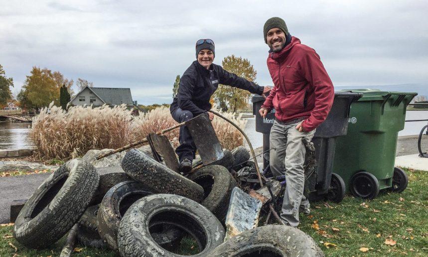 Opération de nettoyage du fleuve dans l'arrondissement de Lachine