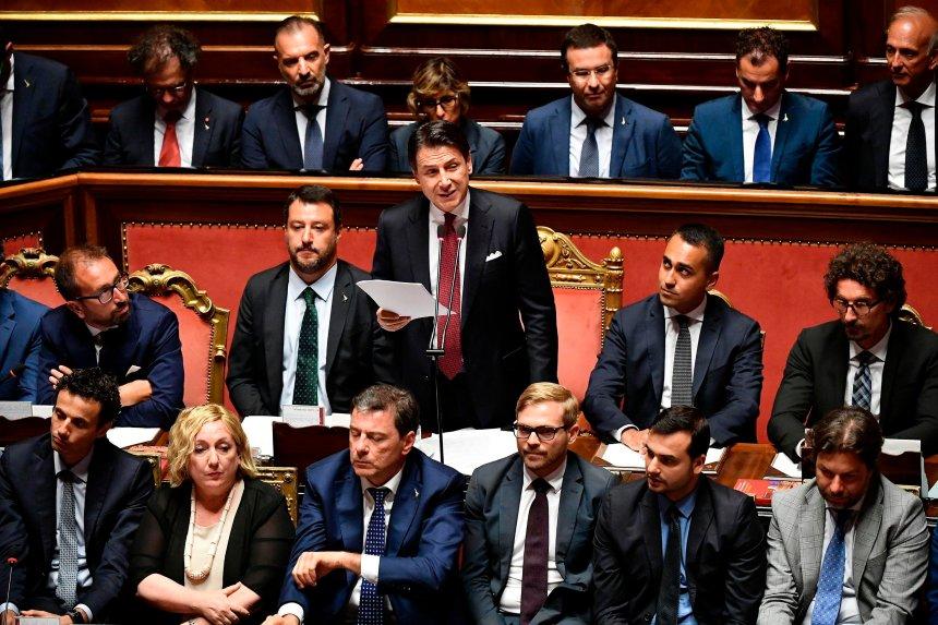 Italie: Conte annonce sa démission, qualifie Salvini d'«irresponsable»
