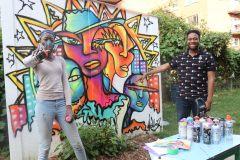 Murales: L'artiste Maliciouz veut briser la glace à Montréal-Nord