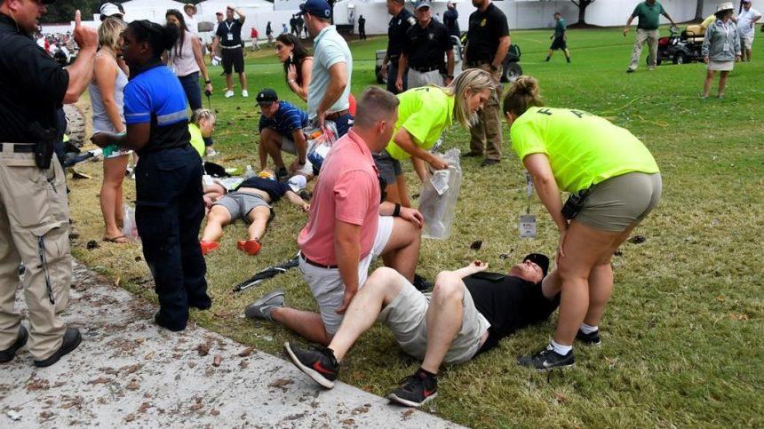 Six blessés après un éclair au Championnat du circuit de la PGA