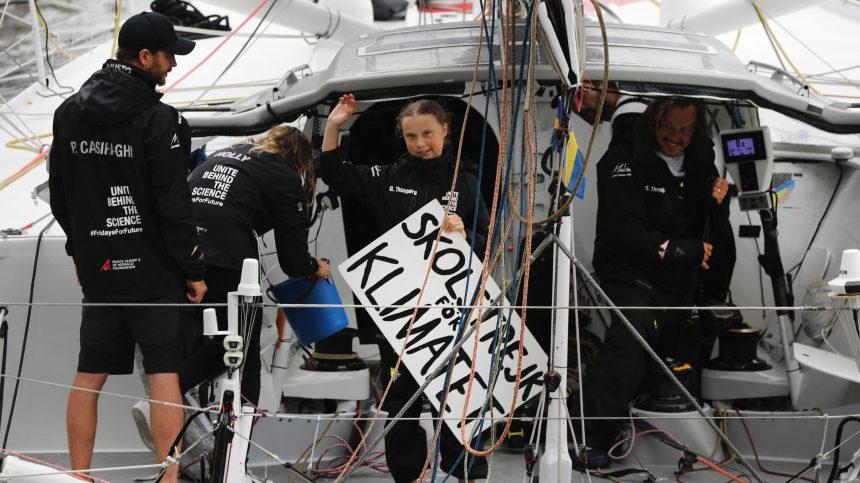 «Cessez de détruire la nature», lance Greta Thunberg en arrivant à New York
