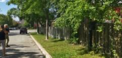 clôture vue de la rue