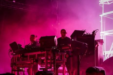 Le duo de musique électronique anglais Chemical Brothers à Osheaga.