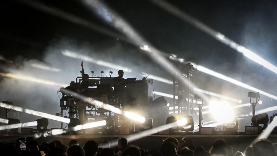 The Chemical Brothers lors de leur passage à Osheaga 2019.