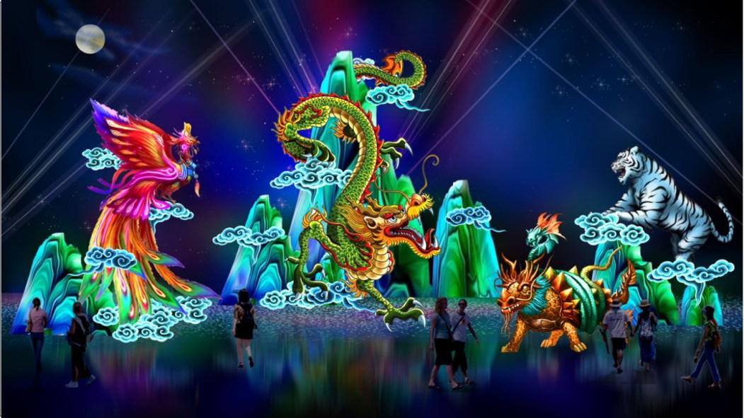 Lanternes chinoises Feux follets