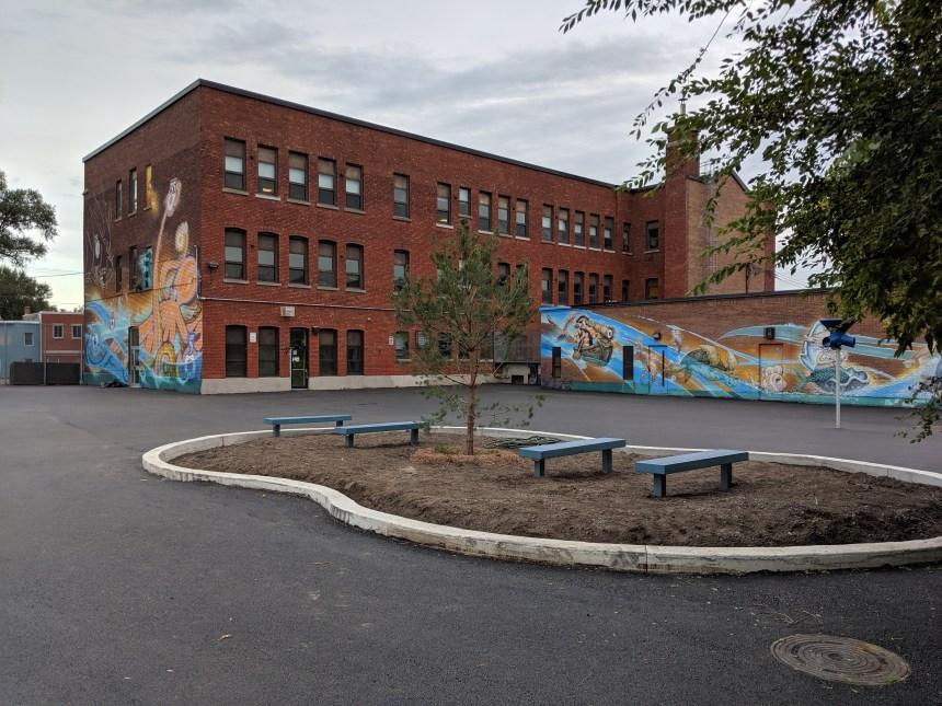 Place au vert à l'école Martin-Bélanger de Lachine