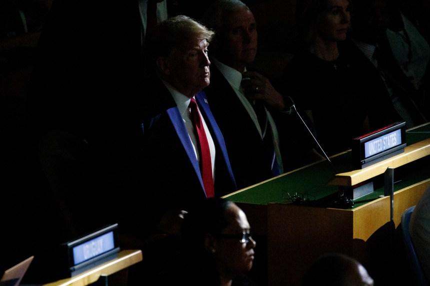 ONU: brève apparition de Donald Trump au sommet climat