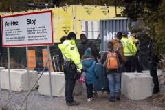 Le nombre de migrants interceptés entre les points d'entrée a légèrement baissé