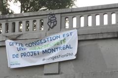 Une fausse bannière politique dénonce le trafic sur Papineau