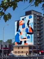 Murale sur le boulevard Décarie