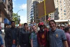 Des jeunes de Saint-Léonard à la manifestation pour le climat