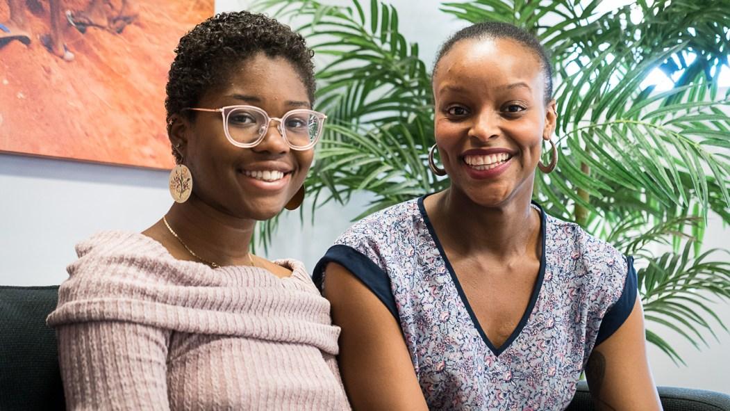 Marina Mathieu et Stella Lemaine, deux cinéastes qui présenteront leurs oeuvres au festival international du film black de Montréal.