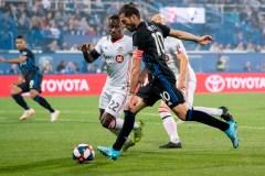 L'Impact défait le Toronto F.C. 1-0 lors du match aller du Championnat canadien
