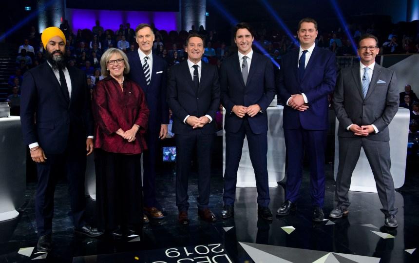 Débat des chefs: Justin Trudeau attaqué de toutes parts sur l'oléoduc Trans Mountain