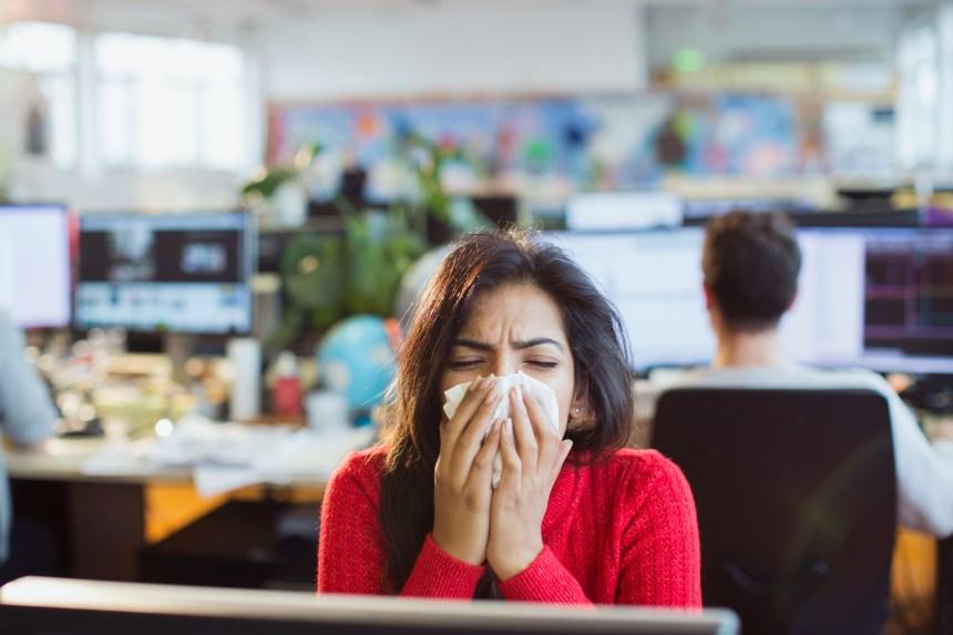 Malade au boulot