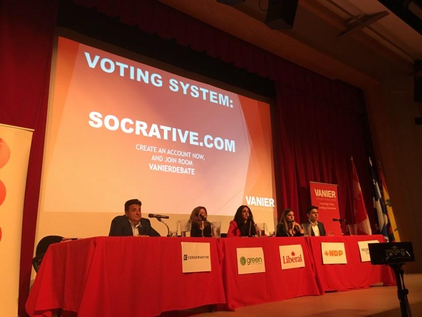Débat électoral: les candidats lancent les hostilités au Collège Vanier