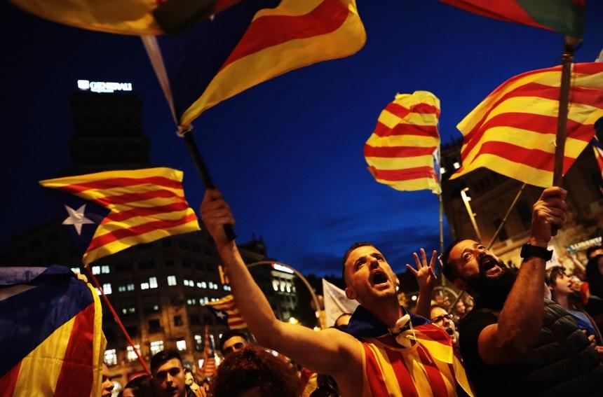 «Ce n'est pas fini», disent les manifestants indépendantistes catalans