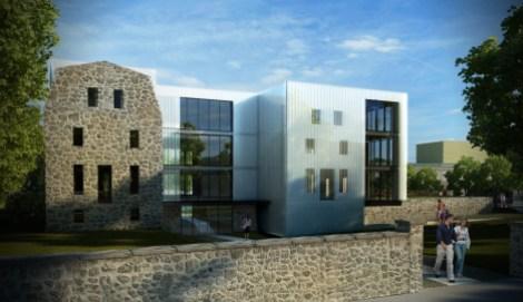 Projet abandonné de la maison des arts et des lettres sur les ruines de l'école Sophie-Barat