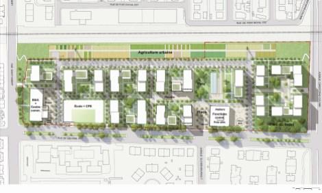Esquisse plan d'aménagement site Louvain Est