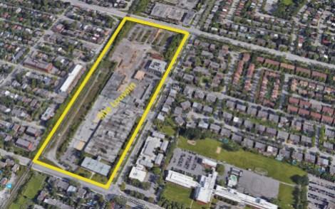 Délimitation du site Louvain Est où seront construits des logements sociaux et abordables