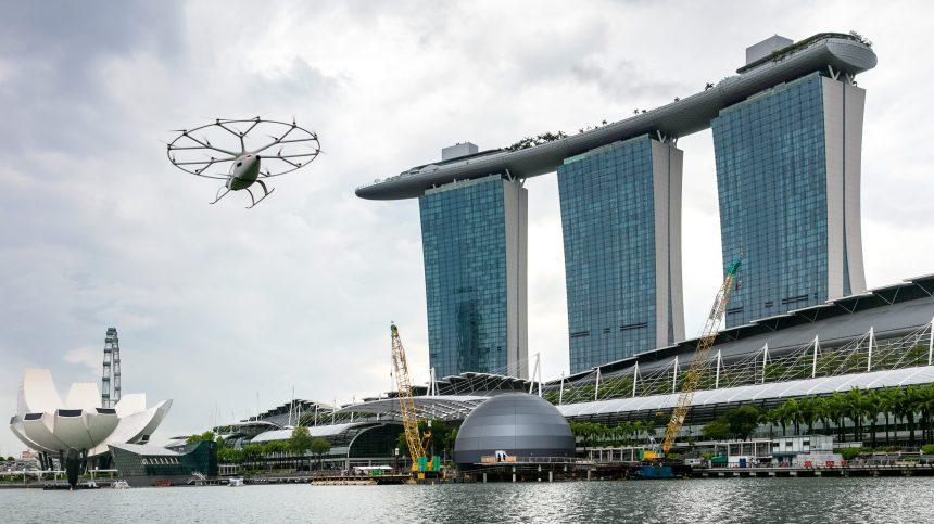 Un taxi volant électrique «Volocopter» »testé au dessus de Singapour