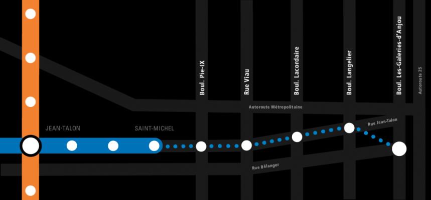 Un aperçu du projet de prolongement de la ligne bleue