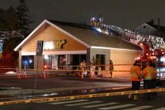 Incendie possiblement criminel au Subway de Lachine
