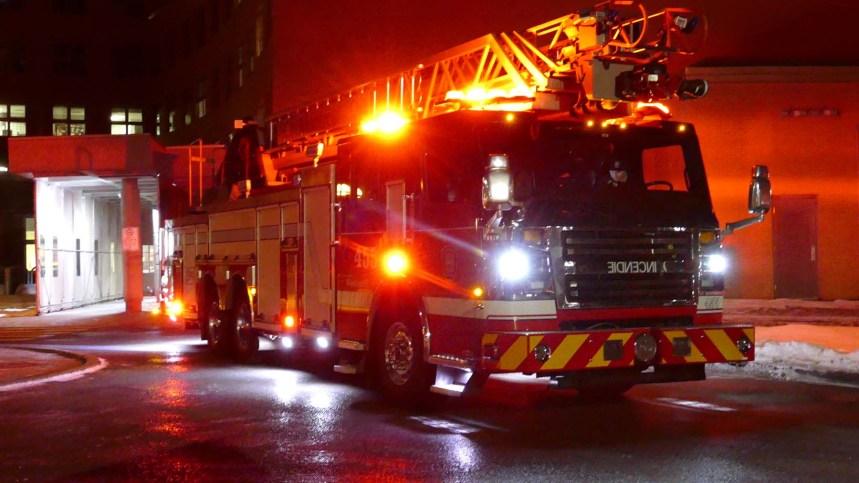 Début d'incendie au Lakeshore