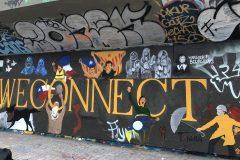 Une murale en solidarité avec les protestations internationales