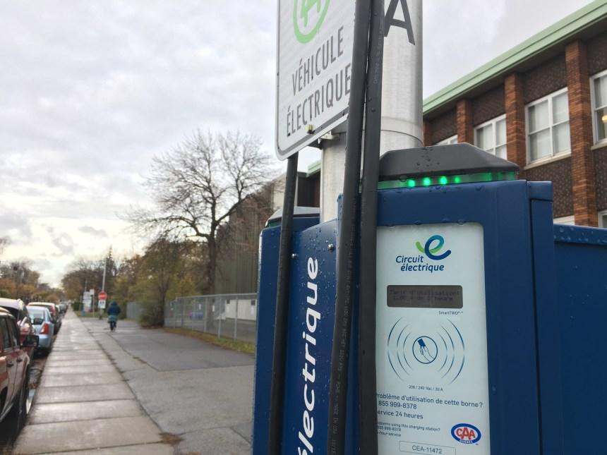 Peu de bornes de recharge électriques aux extrémités de Montréal