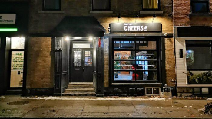 Cheers est situé 2035 rue Wellington, à Montréal
