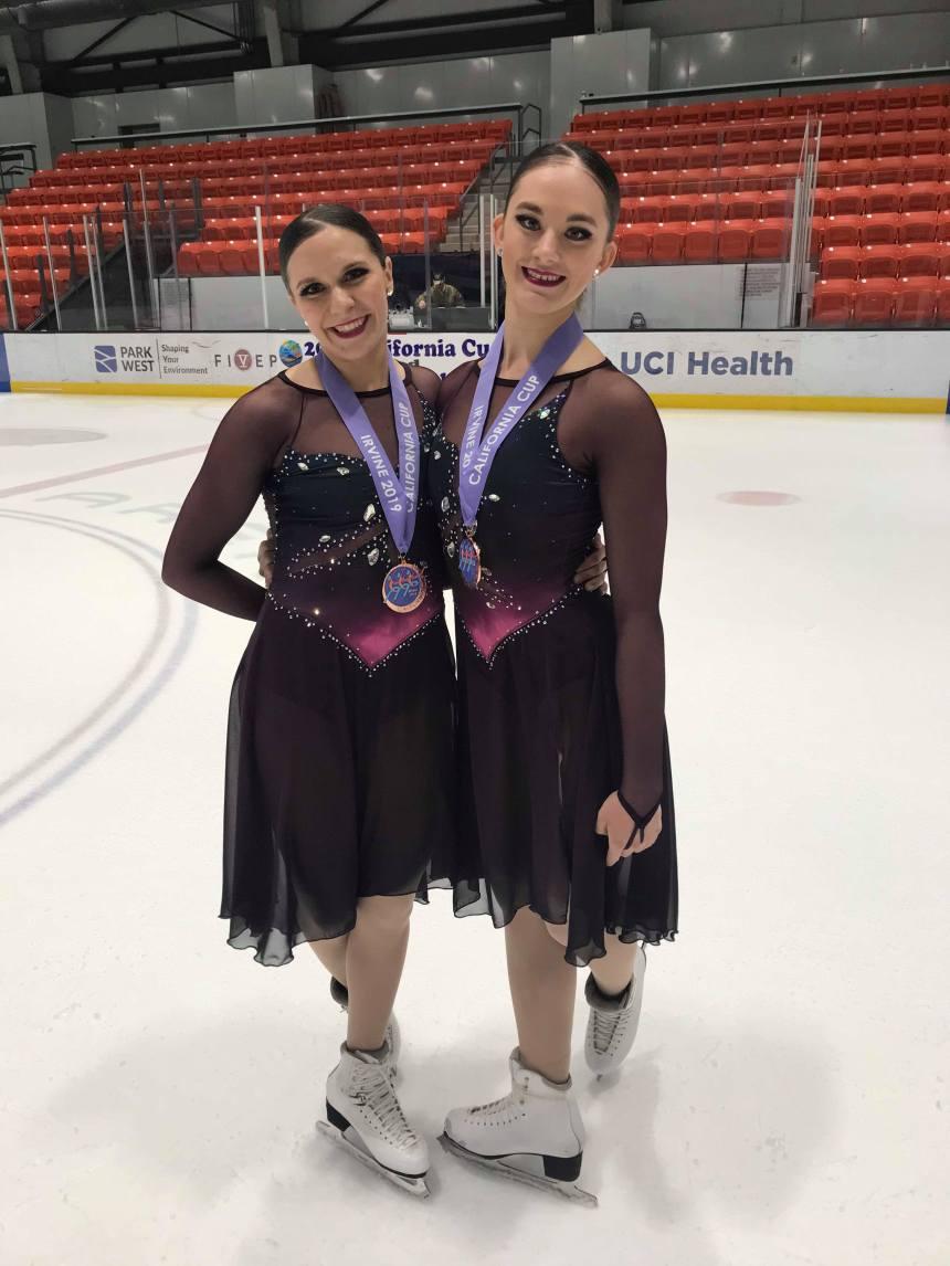 Patinage synchronisé : deux Pointelières remportent le bronze avec leur équipe