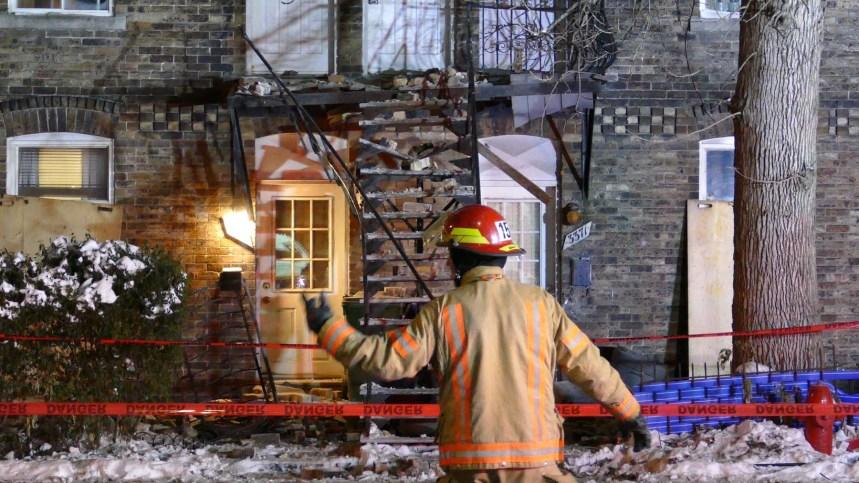 Effondrement partiel d'un immeuble à logement sur Wellington