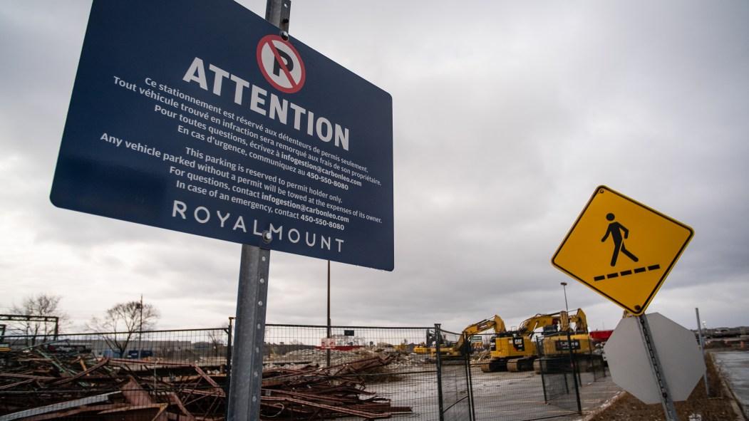 Le chantier du projet Royalmount, dans Ville Mont-Royal