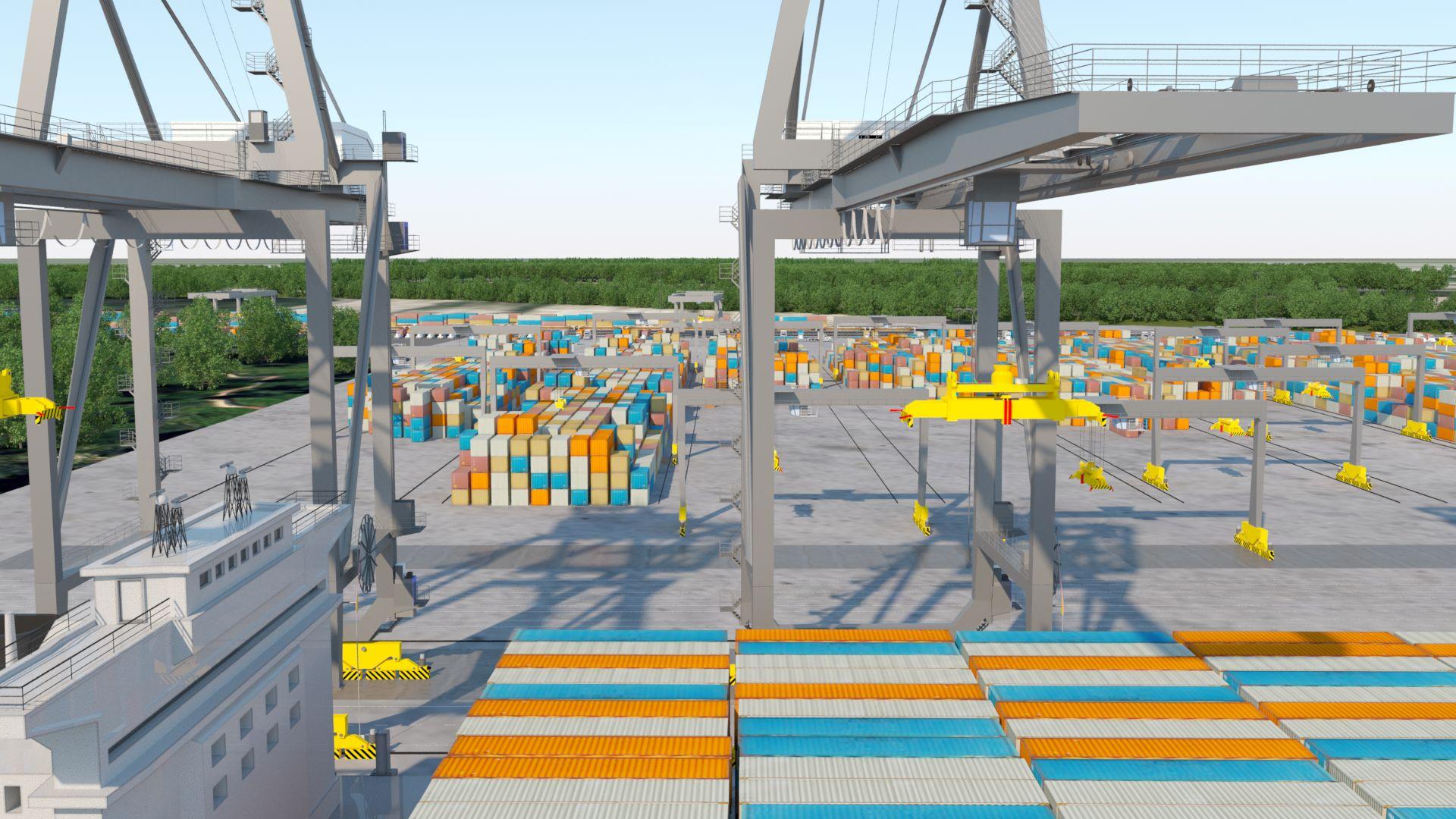 Maquette du futur terminal portuaire de Contrecoeur, sur la Rive-Sud de Montréal