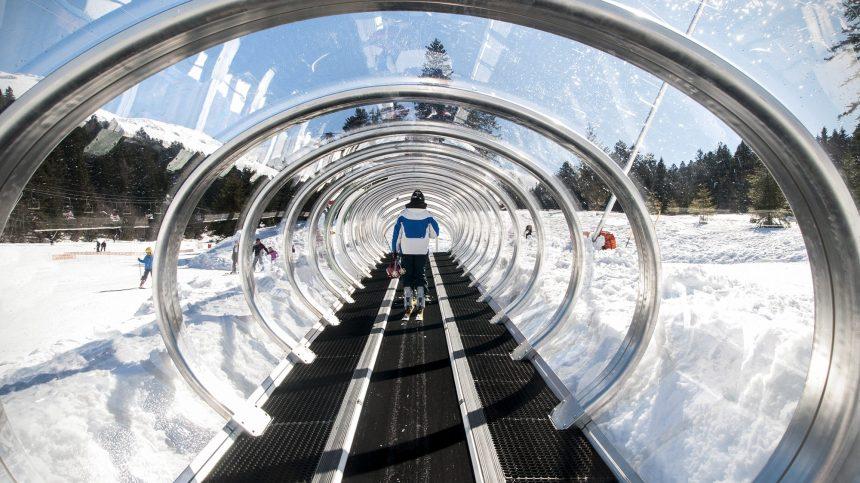 Tapis roulant couvert à Ski Montcalm