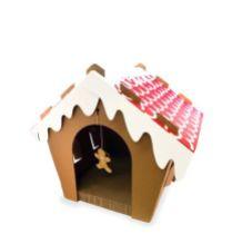 Maison des Fêtes pour chats avec grattoir, jouet et herbe à chat Cette maison des Fêtes pour chats est une petite cachette que votre animal adorera! Elle est munie d'un grattoir amovible, d'un petit jouet en forme de pain d'épices et d'herbe à chat. Des heures de plaisir pour minet! 15$, chez Mondou