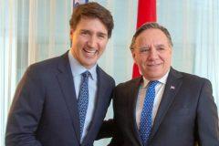 Rencontre Legault-Trudeau: François Legault demande au Bloc d'appuyer l'ACEUM